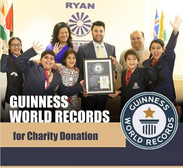 Guiness World of Records for Charity Donation - Ryan Global Schools